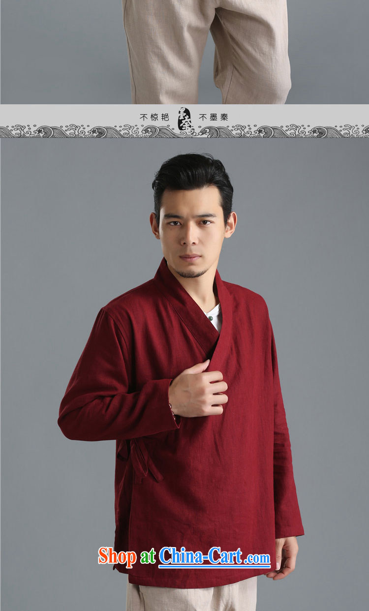 The Qin original 2015 autumn fashion new linen men's T-shirt plain-colored long-sleeved shirt T National wind, served 081,304 mfby white XL/big picture, price, brand platters! Elections are good character, the national distribution, so why buy now enjoy more preferential! Health