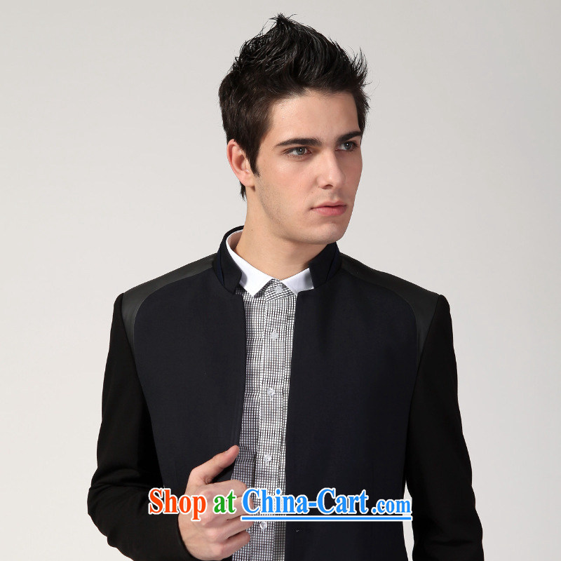 Dan Jie Shi 2015 New Men's smock, for youth with Korean Beauty suit small suit Male casual chic and comfortable black 48