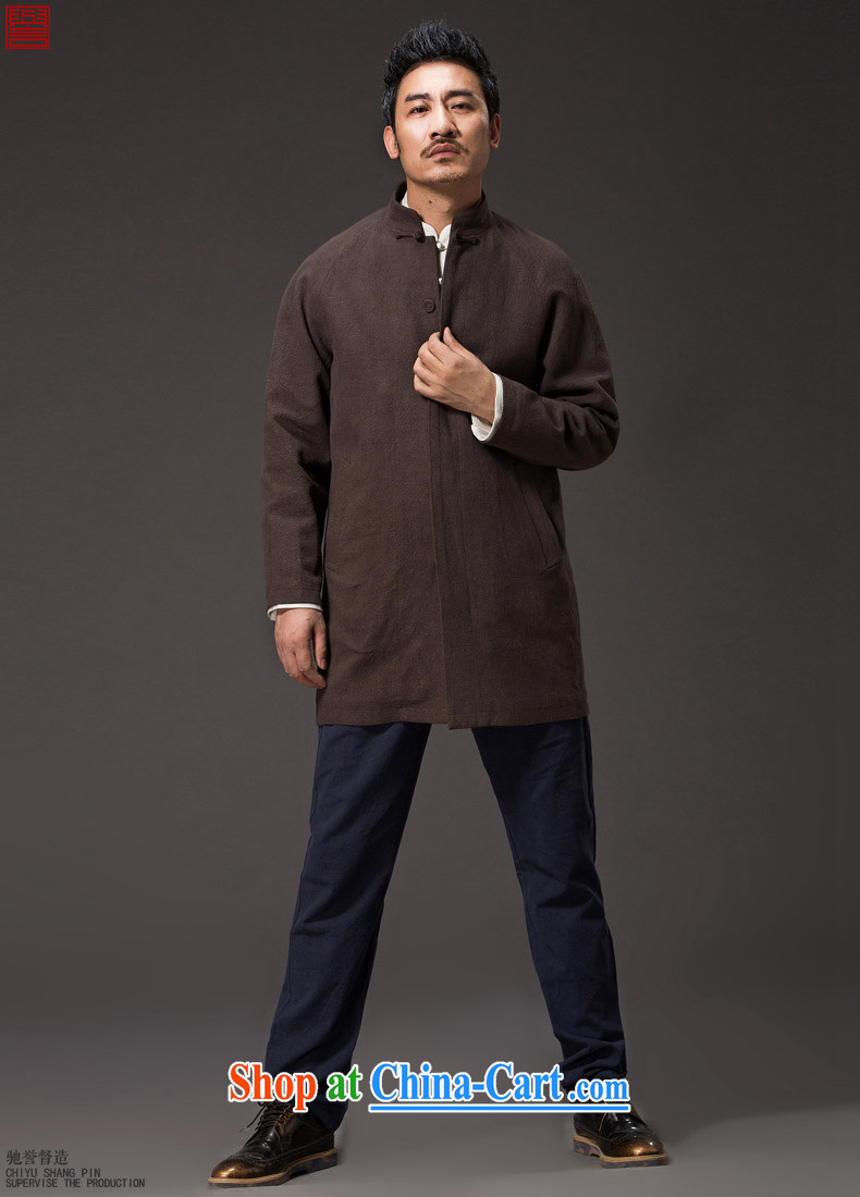 Internationally renowned Chinese clothing Chinese wind Autumn Chinese men's wind jackets, coats for cotton the men's coats, long linen National Men's dark blue 3XL pictures, price, brand platters! Elections are good character, the national distribution, so why buy now enjoy more preferential! Health