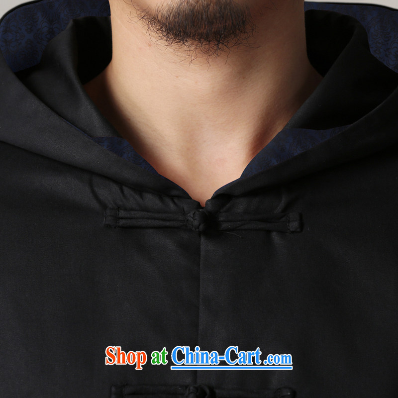 Riding a leopard quilted coat, 2015 autumn and winter New China wind men's Chinese Chinese men's improved Han-cap cotton jacket black XXL, riding a Leopard (QIBAOLANG), online shopping