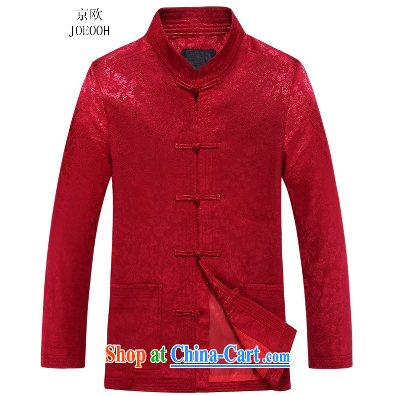 Putin's Europe in the new fall, the men's Chinese China wind up their national costumes in the older Chinese men's red 190