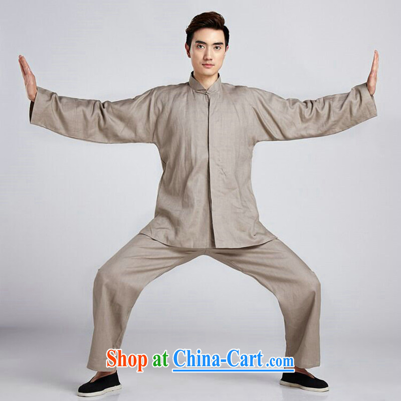 Take the linen men's Chinese package China wind shirt, for Chinese Antique Han-smock Tai Chi uniforms Kung Fu T-shirt - 4 2 XL