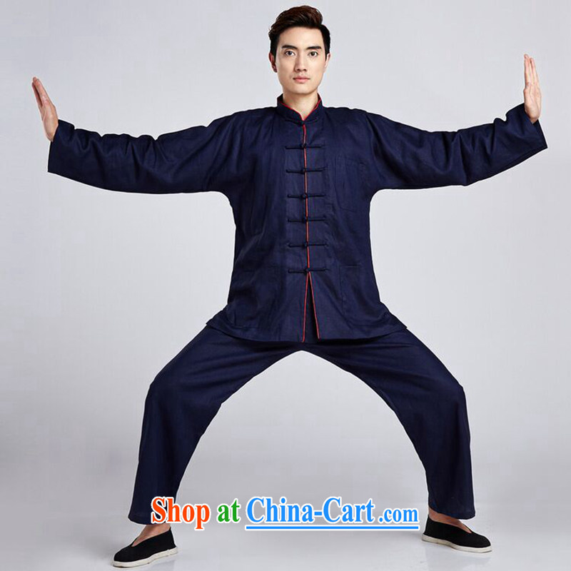 Find Sophie men Tang replace Kit smock for the linen shirt ethnic wind Han-smock Tai Chi uniforms Kung Fu T-shirt - 2 XL