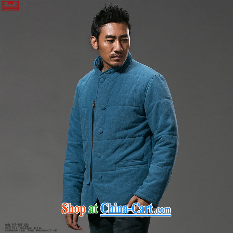 Internationally renowned Chinese clothing Chinese wind men's linen quilted coat thick male, for Chinese cotton suit Chinese parka brigades