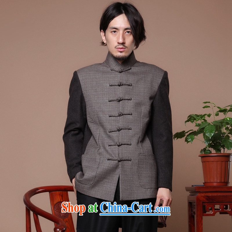 Find Sophie autumn and winter, older, for the charge-back wool? Improved men's jackets Chinese Antique spell color Tang Jacket Picture Color 3XL