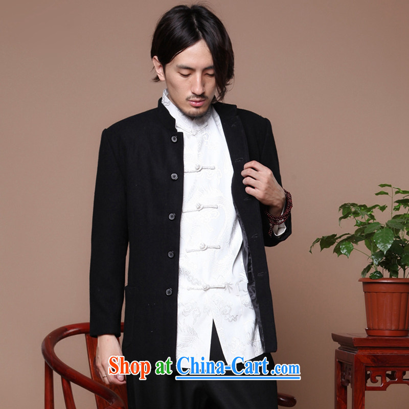 Find Sophie Chinese Antique men's Chinese Korean version suits the older, lead nation gross smock jacket is black 3 XL