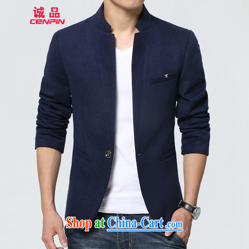 Good faith and fall with new stylish lounge smock men's jacket? Small Business Suit 1628 blue XL
