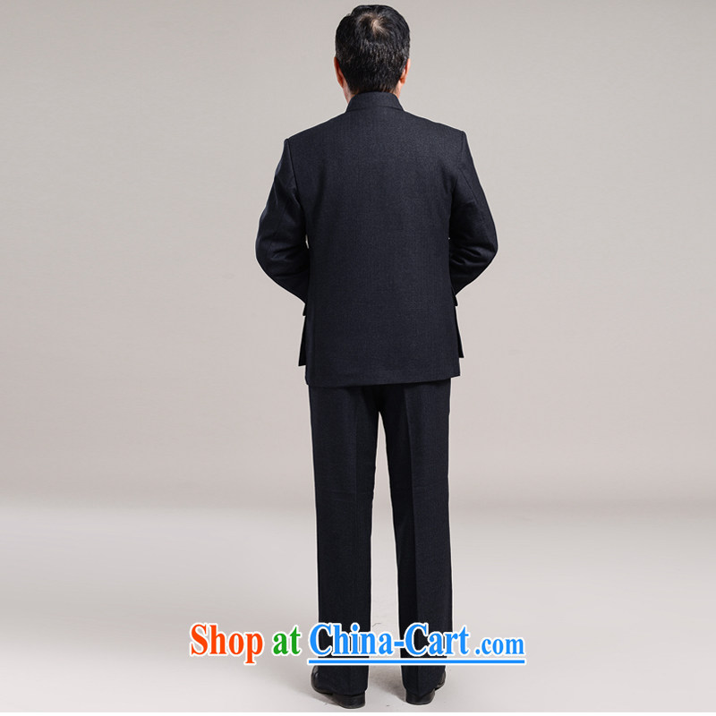 His father is middle-aged men's smock Kit older persons in Zhongshan clothing and jackets father replace men's 7001 dark gray 190/80, Santiago (SHENGDIGE), online shopping
