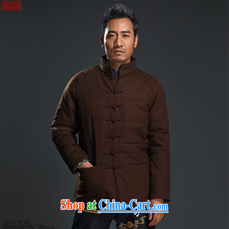 Internationally renowned Chinese clothing Chinese wind cotton clothing winter clothing men, for thick coat is quilted coat snap loose national men's senior Chinese Black 3XL