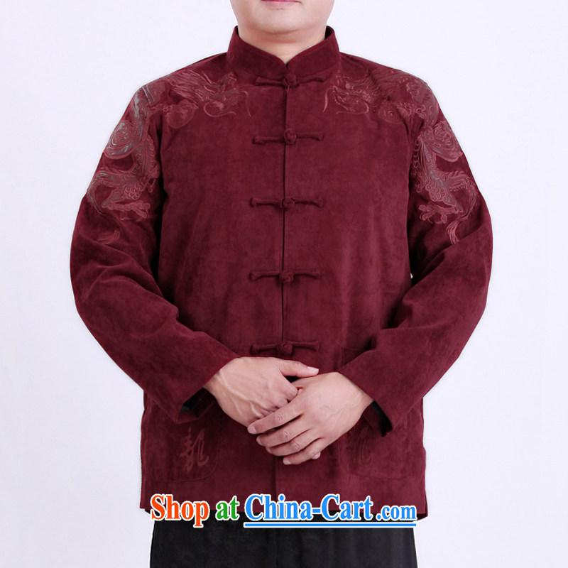 The Dili Mr Rafael Hui Kai Men Tang replace spring new men Tang jackets, older men's Chinese T-shirt 13,130 190 red T-shirt