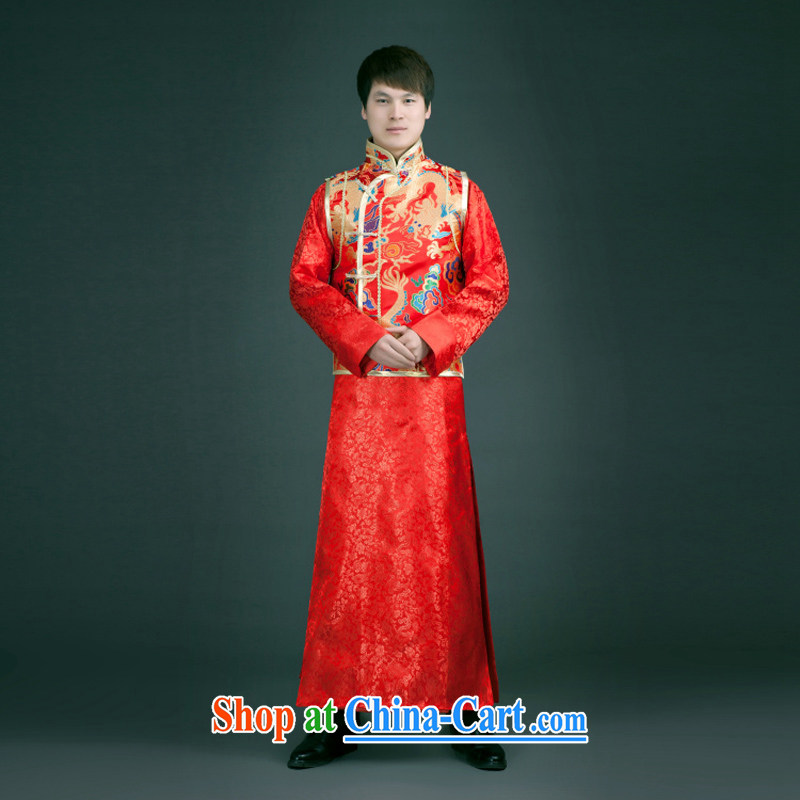 2015 fall and winter Chinese wedding dress the bride with retro dress Soo Wo service Phoenix Summer of good men costumed smock red Chinese L
