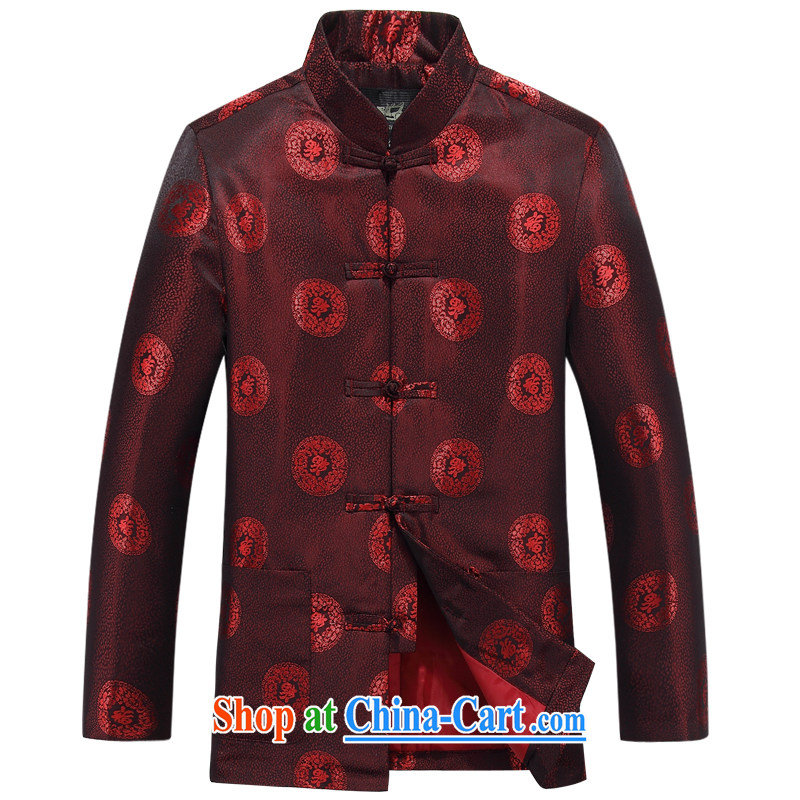 The British, Mr Rafael Hui, autumn and replacing older persons in couples Chinese men's long-sleeved birthday life Chinese Dress elderly thin coat red 88,030 men 190 _ 104 A