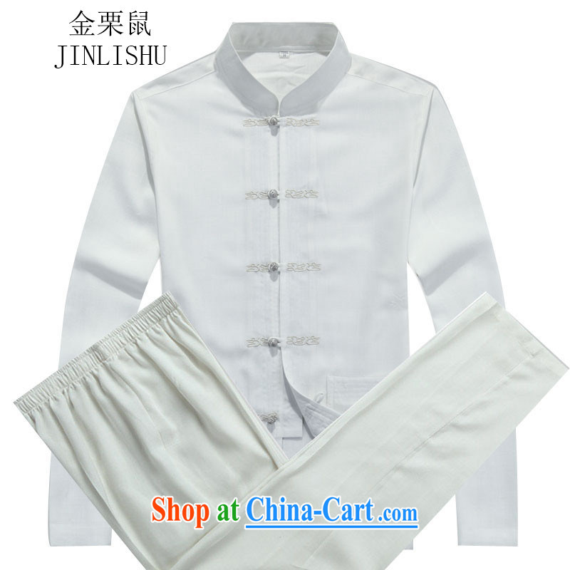 The chestnut mouse autumn New Tang is in the Men's older men's long-sleeved Tang replacing kit white package XXXL