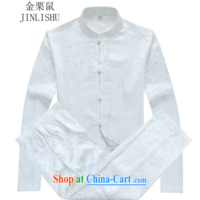 The chestnut mouse autumn new kit Tang mounted men's long-sleeved Kit men Tang with white package XXXL