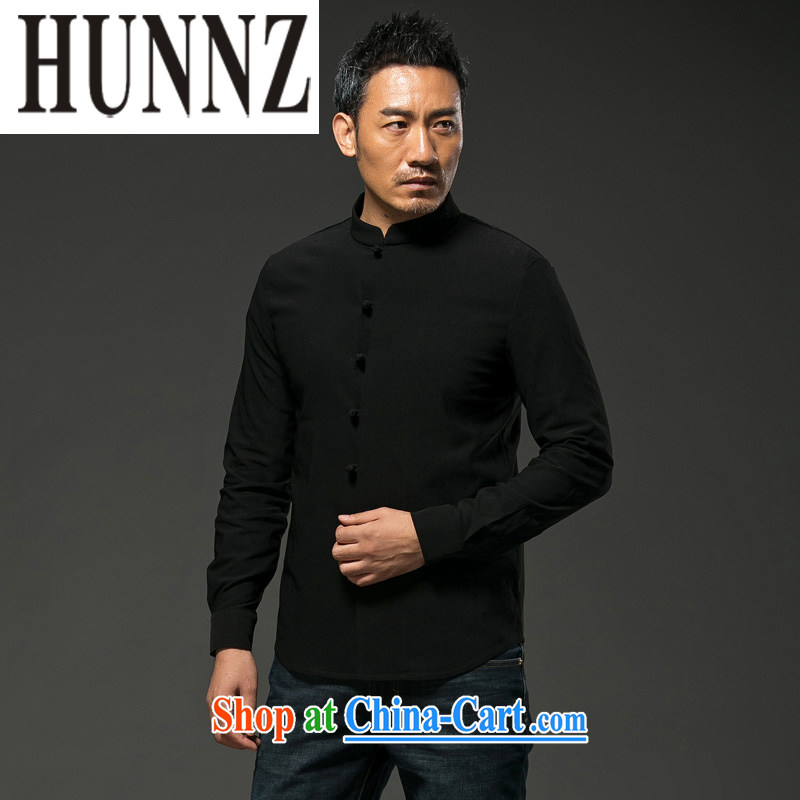 Products HUNNZ China wind units, the Commission adopted the withholding Chinese men's Chinese cultivating long-sleeved T-shirt, national costume black XXXXL, HUNNZ, shopping on the Internet