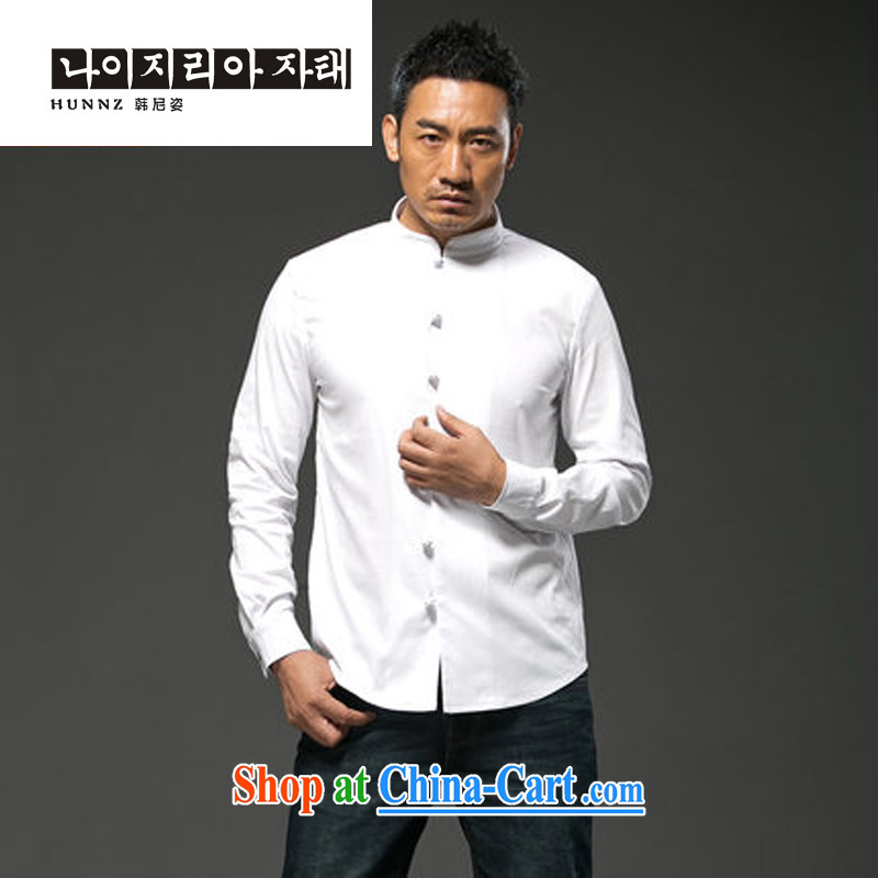 Products HANNIZI China wind units, the Commission adopted the charge-back Chinese male Chinese cultivating long-sleeved T-shirt, national costume white XXXXL