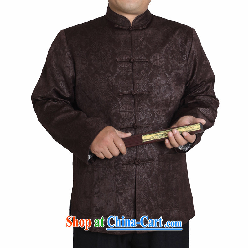 Adam's 2015 elderly men and Tang with autumn and winter, older men and long-sleeved Tang jackets men's clothing ethnic clothing men's quilted Tang Replace T T 1155 1155/brown this small concept, it is recommended that a bigger size.