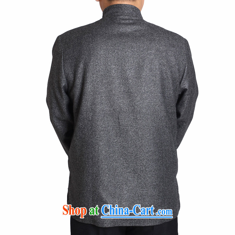 Adam 15 elderly fall/winter elderly people in good men and a solid color Tang jackets wool blend old clothing T T 9821 9821 / light gray 165, Adam's elderly, shopping on the Internet