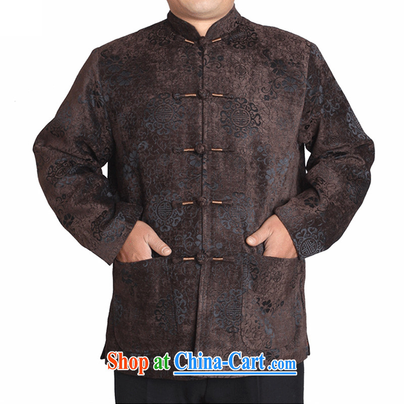 Adam's old 15 autumn and winter, older male and Tang jackets jacquard hi field upscale Chinese clothing T T 9823 9823 brown this small concept, it is recommended that a large number