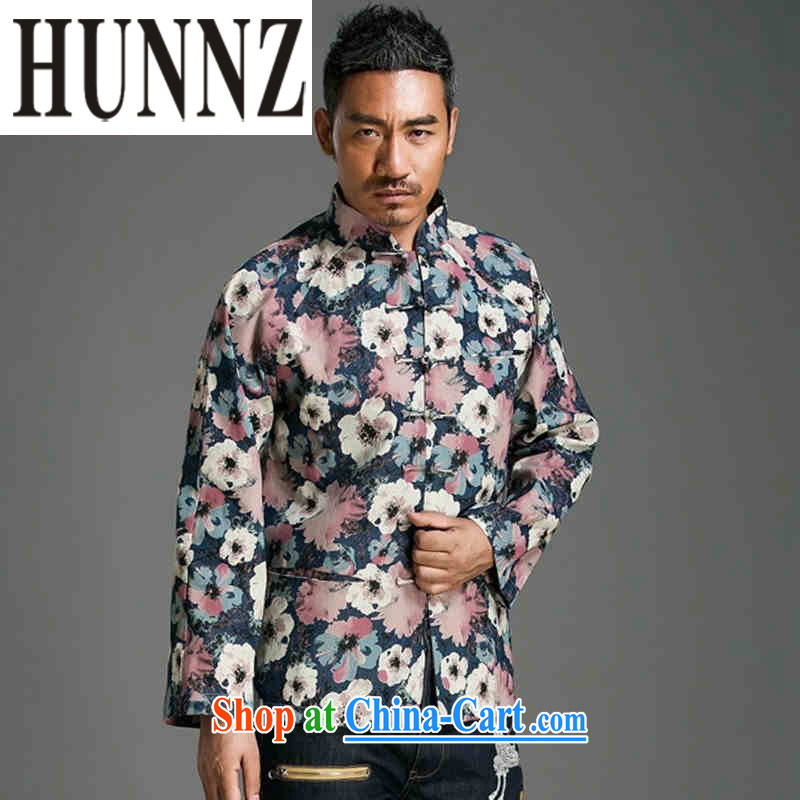Products HUNNZ trendy stamp duty cultivating long-sleeved China wind up for the charge-back Chinese Chinese improved male jacket suit XXXL