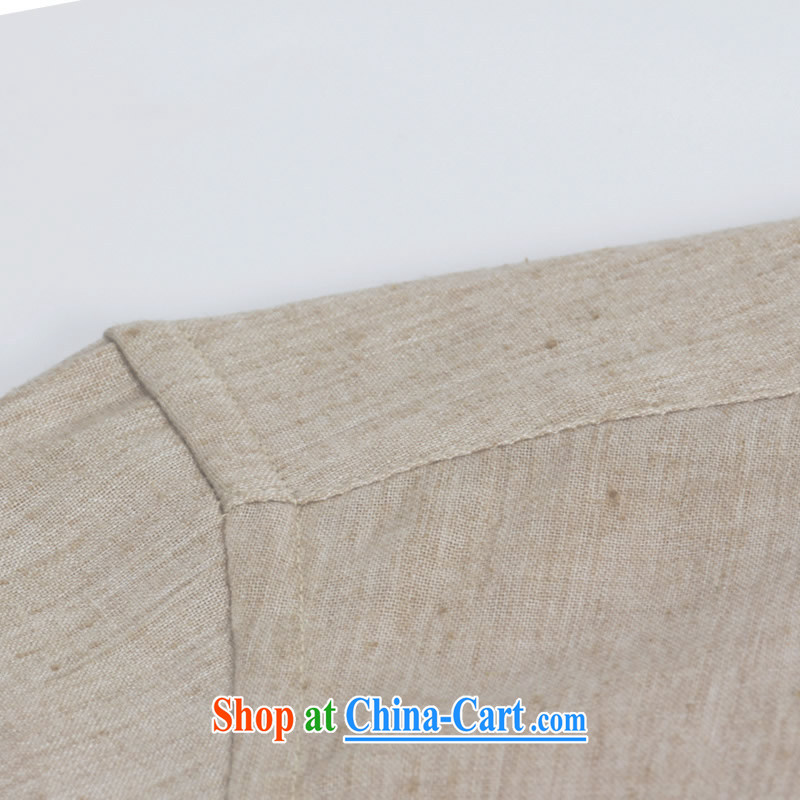 Products HUNNZ China wind cultivating Simple Chinese men's round-collar cotton the long-sleeved T-shirt Chinese casual shirt and smock light gray 190, HUNNZ, shopping on the Internet