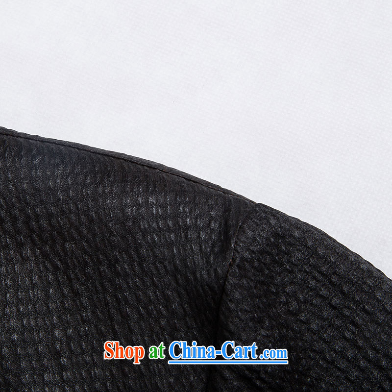 Internationally renowned Chinese clothing Chinese men's fragrance cloud yarn silk short-sleeved Chinese wind male Chinese shirt sauna silk shirt men's black 4XL, internationally renowned (chiyu), online shopping