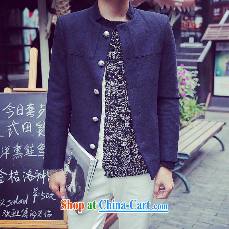 Dan Jie Shi-new short, for single-row tie it suits metal clip hair Smock is male and dark blue XXL