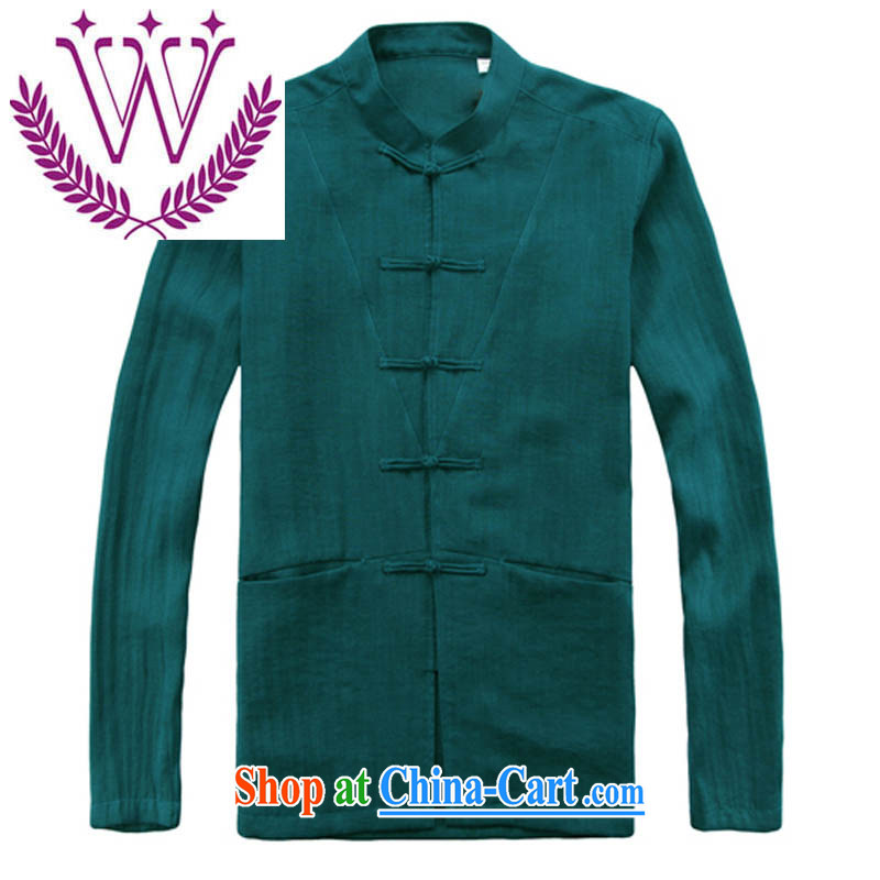 Products New Products retro China wind long-sleeved sweater men's cotton leprosy is still Chinese Chinese male, in the cynosure serving green 185