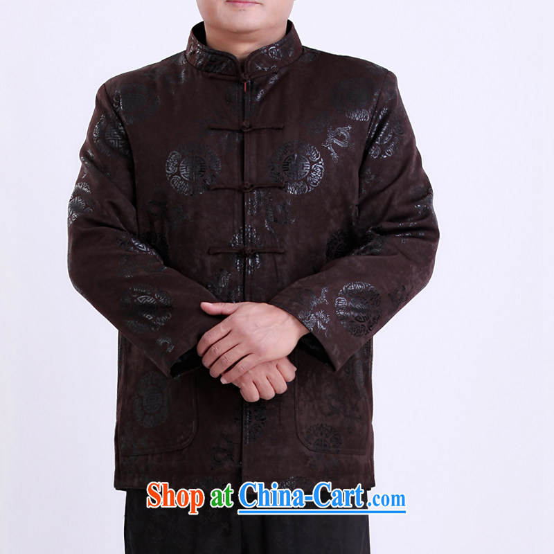 Spring men Tang jackets Chinese thin cotton Chinese men and older men and Tang have been life clothing 13,137 190 Brown/winter quilted