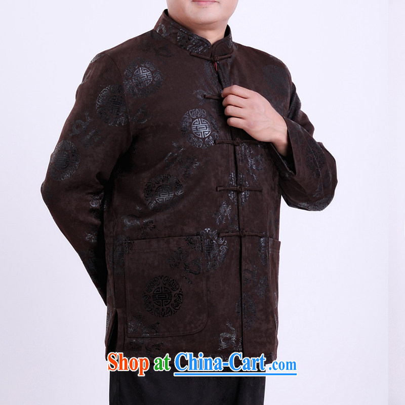 Spring men Tang jackets Chinese thin cotton Chinese male, older men and Tang have been life clothing 13,137 190 Brown/winter quilted in Dili, Mr Rafael Hui Kai, shopping on the Internet